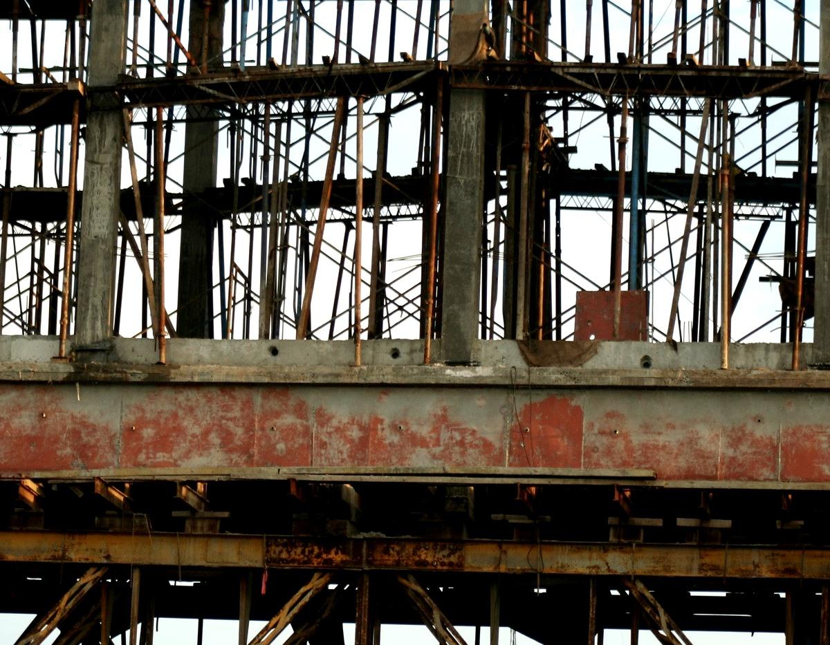 India railway bridges scaffolding