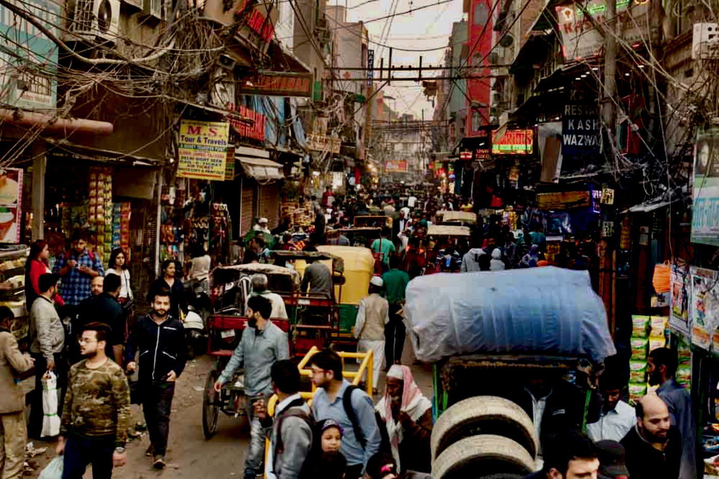 Old Delhi India Chandni Chowk Markets and Streets