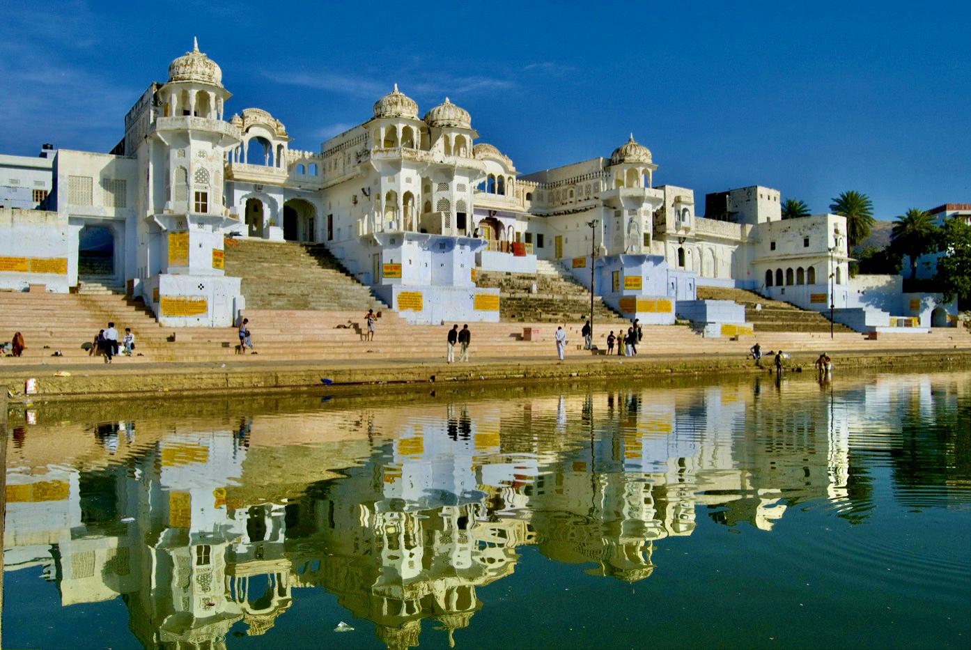 Pushkar Ghats and Temples Rajasthan India