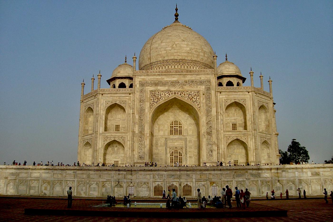 Taj Mahal at Sunset Agra India